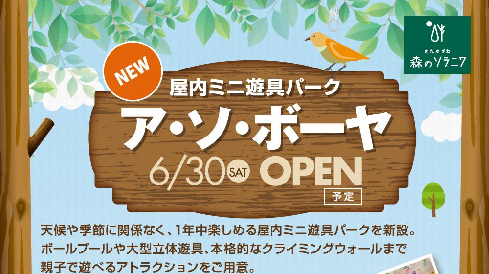 6/30に屋内ミニ遊具パークがオープン
