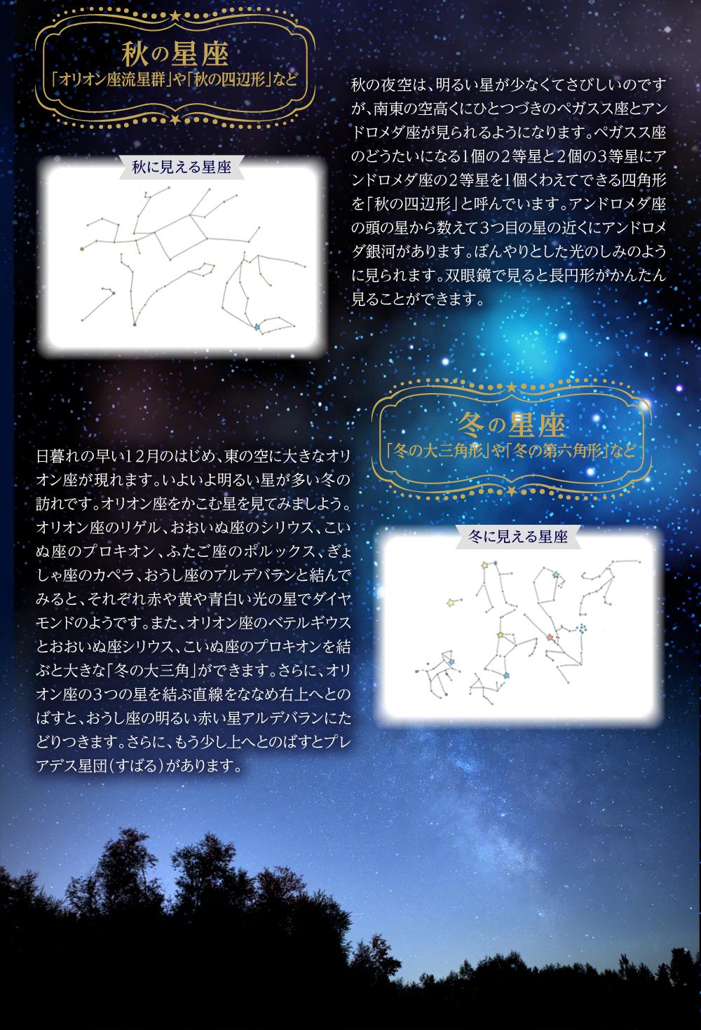 秋の星座と冬の星座